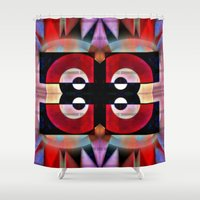 asian Shower Curtains featuring Asian Lights by Kristine Rae Hanning