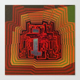 Three's a Crowd / Robotics Canvas Print