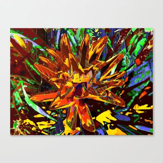 floral technique Canvas Print
