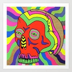 Hallucinogenic Skull Art Print
