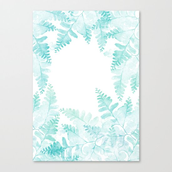Ferns Jungle Canvas Print