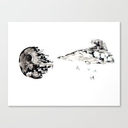 Imperial Star Destroyer Sumi-e Canvas Print