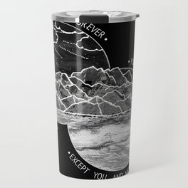mountains-biffy clyro (black version) Travel Mug