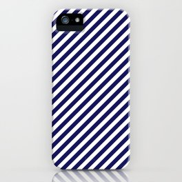 Classic Stripes in Navy + White iPhone Case