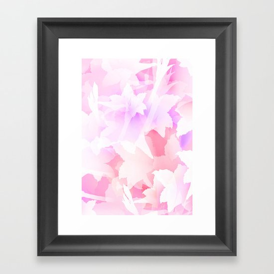 Sweet flowers Framed Art Print