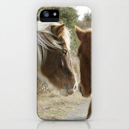 Horse Conversations iPhone Case