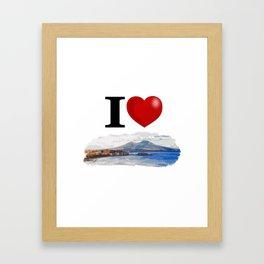 I Love Napoli Framed Art Print