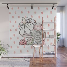 Pink Gnome Wall Mural