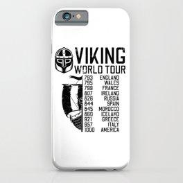Viking World Tour - Raid Dates iPhone Case