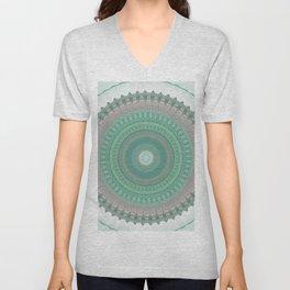Sage Pastel Mandala Design Unisex V-Neck