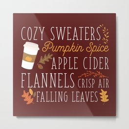 Fall Feelings Metal Print