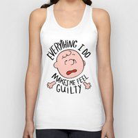 charlie brown Tank Tops featuring CHARLIE BROWN by Josh LaFayette