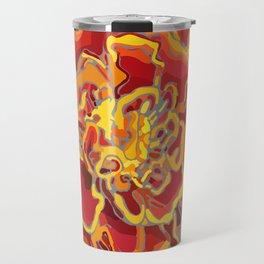 Marigold in Burnt Orange and Grey by Hxlxynxchxle Travel Mug
