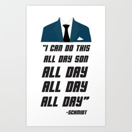 All Day | New Girl Art Print