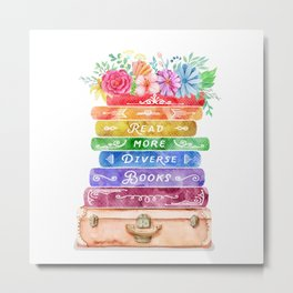 Diverse Books Metal Print