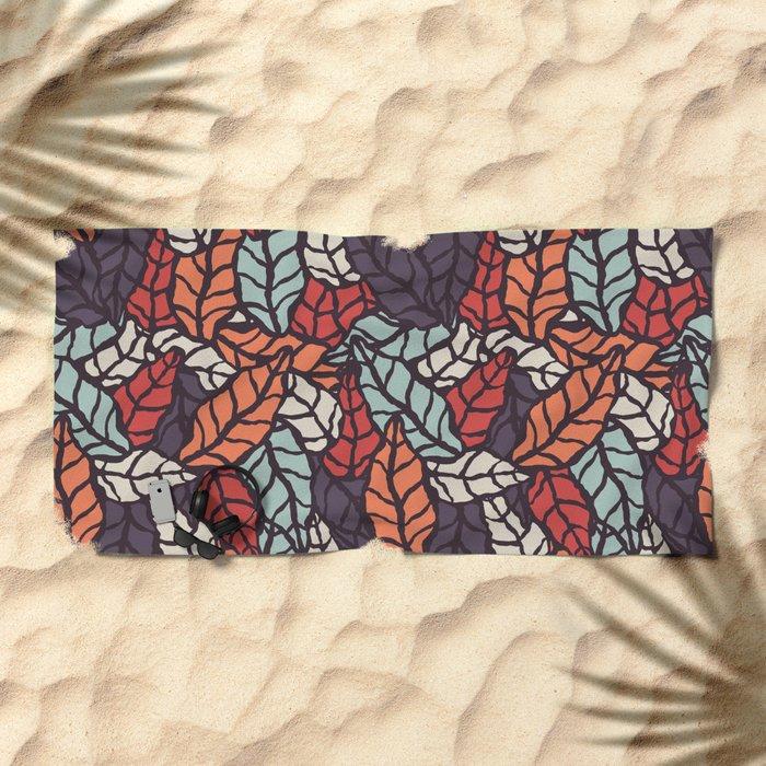 Nature leaves 006 Beach Towel