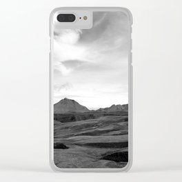 Iceland, the other side of the mountains. Clear iPhone Case