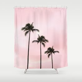 Palm Tree Photography Peach | Blush Pink | Millennial Pink | Miami Shower Curtain