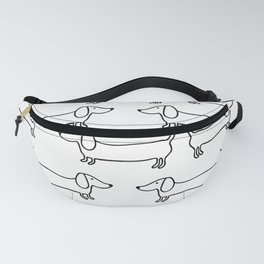Dachshund in black-white Fanny Pack