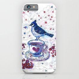 Winter Tea (Ble Jay) iPhone Case