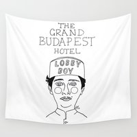budapest Wall Tapestries featuring The Grand Budapest Hotel by ☿ cactei ☿