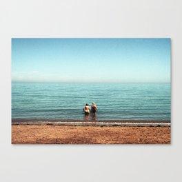 Seasoned Swimmers Canvas Print