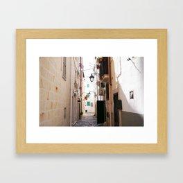 Streets of Monopoli Framed Art Print
