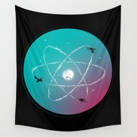 aviation Wall Tapestries featuring Atomic Formation by nicebleed