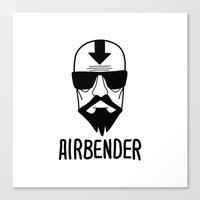 airbender Canvas Prints featuring AIRBENDER by Aldo Cervantes Saldaña