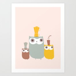 Owls Allowed Art Print