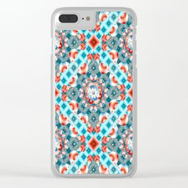 Decorative Lovebirds Clear iPhone Case