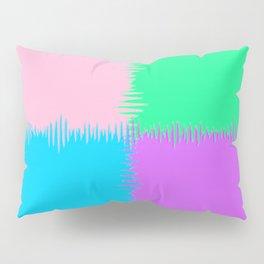 QUARTERS #1 (Pink, Light Blue, Light Green & Light Purple) Pillow Sham