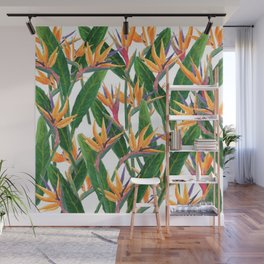 bird of paradise pattern Wall Mural