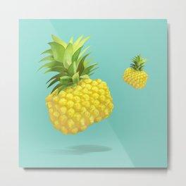 XiaoTieJun Pineapple Metal Print