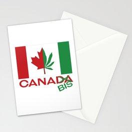 Canada marijuana flag Stationery Cards