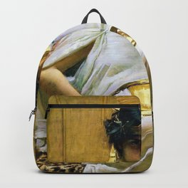 John William Waterhouse - Cleopatra - Digital Remastered Edition Backpack