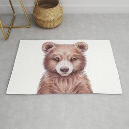 Baby Bear, Woodland Baby Animals, Cute Nursery Animals Forest Kids Room Decor Rug