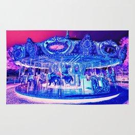 Carousel Merry-Go-Round Pink Purple Rug