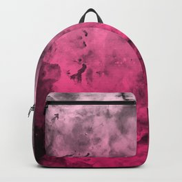 Liquid Space Nebula : Gray to Pink Ombre Gradient Backpack