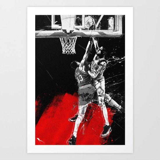 Pippen Over Ewing Art Print