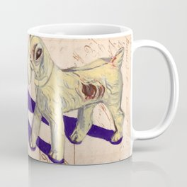 Vintage Celluloid Fox Terrier in Gouache Coffee Mug