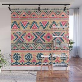 Vintage aztec ethnic tribal hand drawn illustration pattern Wall Mural