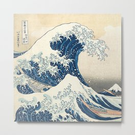 The Great Wave off Kanagawa Hokusai Metal Print