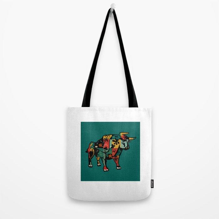Flower Bull Tote Bag