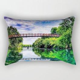 Barton Springs Bridge Rectangular Pillow