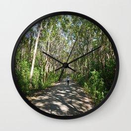 Mystical Tree Road Wall Clock
