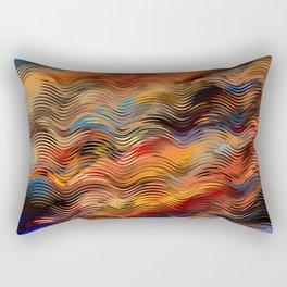 Sunset in the Desert Ethnic Tribal Boho Vibe Rectangular Pillow