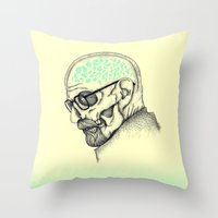 heisenberg Throw Pillows featuring Heisenberg by Mike Koubou