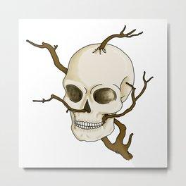 Skull and tree Metal Print