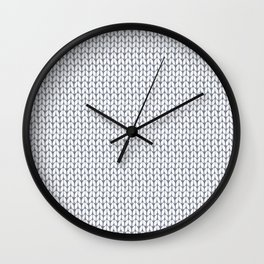 Knitted pattern. Wall Clock